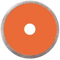 Continuous rim blade for stone