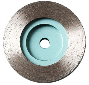 Continuous rim diamond grinding cup wheel for stone