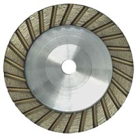 Straight turbo diamond grinding cup wheel for stone
