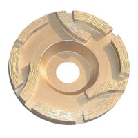 Flower turbo diamond grinding cup wheel for stone
