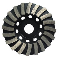 Turbo wave diamond grinding cup wheel for stone