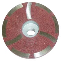 Resin filled diamond grinding cup wheel for stone