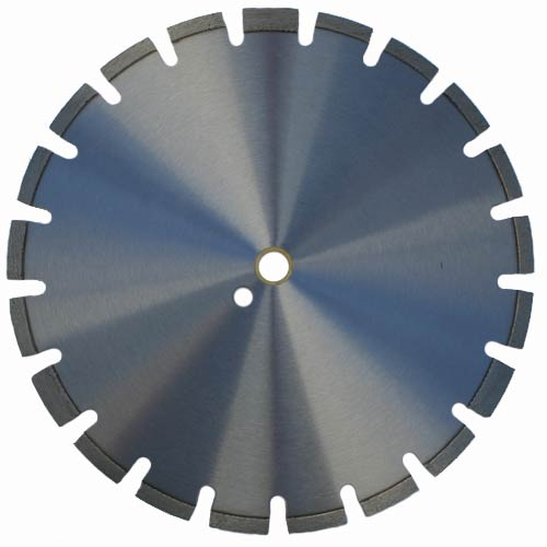 Laser welded diamond blade for cured and reinforced concrete