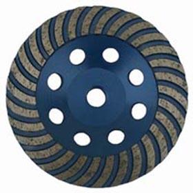 Wave turbo diamond grinding cup wheel