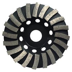 Turbo wave diamond grinding cup wheel