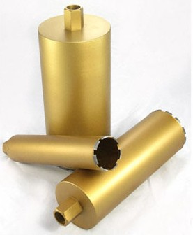 Diamond core bits for wet drilling