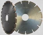 Diamond grooving blades