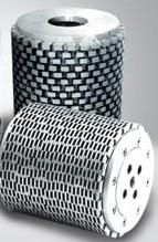 Segmented diamond cylinderical wheels