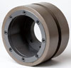 Continuous rim diamond cylinderical wheels