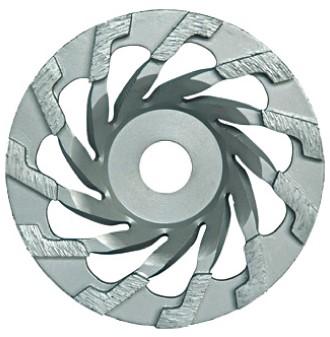 L segment diamond grinding cup wheel